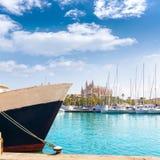 Palma de Mallorca port marina Majorca Cathedral Royalty Free Stock Photos