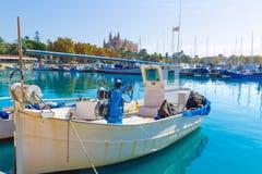 Palma de Mallorca port marina Majorca Cathedral Stock Photography
