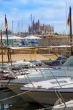 Palma de Mallorca port marina Majorca Cathedral Royalty Free Stock Photo