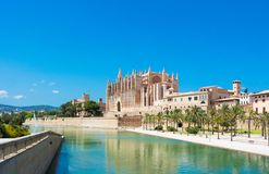 Palma de Mallorca, Port Marina Majorca Cathedral. Spain Stock Photos