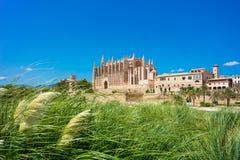 Palma de Mallorca, Port Marina Majorca Cathedral. Spain Royalty Free Stock Photography