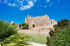 Palma de Mallorca, Port Marina Majorca Cathedral. Spain Royalty Free Stock Photo