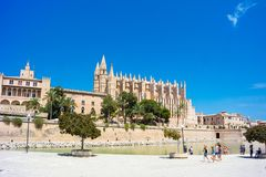 Palma de Mallorca, Port Marina Majorca Cathedral. Spain Stock Images