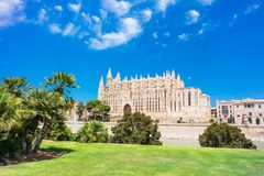 Palma de Mallorca, Port Marina Majorca Cathedral. Spain Stock Image