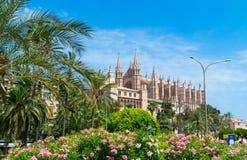 Palma de Mallorca, Port Marina Majorca Cathedral. Spain Stock Photo