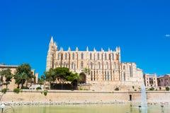 Palma de Mallorca, Port Marina Majorca Cathedral. Spain Stock Image