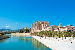 Palma de Mallorca, Port Marina Majorca Cathedral. Spain Stock Photo