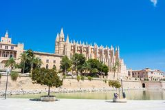 Palma de Mallorca, Port Marina Majorca Cathedral. Spain Royalty Free Stock Photography