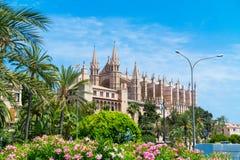 Palma de Mallorca, Port Marina Majorca Cathedral. Spain Stock Photography