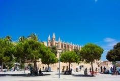 Palma de Mallorca, Port Marina Majorca Cathedral. Spain Royalty Free Stock Image
