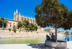 Palma de Mallorca, Port Marina Majorca Cathedral. Spain Royalty Free Stock Photo