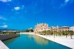 Palma de Mallorca, Port Marina Majorca Cathedral. Spain Stock Photos