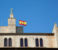 Palma de Mallorca, the royal palace of Almudaina Stock Photos