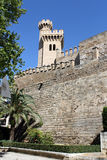 Palma de Mallorca, the royal palace of Almudaina Royalty Free Stock Photo