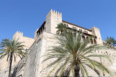 Palma de Mallorca, the royal palace of Almudaina Royalty Free Stock Images