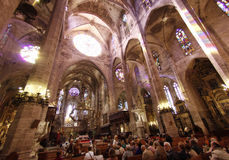 Palma de Mallorca´s cathedral indoor Stock Images