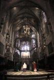 Palma de Mallorca´s cathedral main altar Royalty Free Stock Image