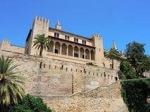 Palma de Mallorca, Spagna Royal Palace di La Almudaina Fotografia Stock Libera da Diritti