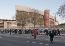 Game at Iberostar Stadium Son Moix Royalty Free Stock Image
