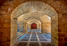 Free PALMA DE MALLORCA, SPAIN - AUGUST 18 2017: Interior View Of Cathedral Of Santa Maria Of Palma La Seu In A Gorgeous Blue Stock Photography - 98882632