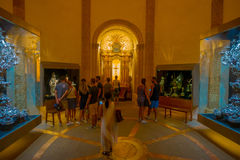 Free PALMA DE MALLORCA, SPAIN - AUGUST 18 2017: Unidentified People Enjoying The Interior View Of Cathedral Of Santa Maria Of Royalty Free Stock Photos - 98882518