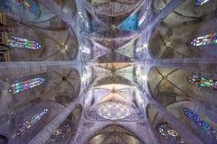 Cathedral de Santa Maria in Palma de Mallorca. stock images