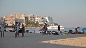 Beaches of the city of Magaluf. stock video