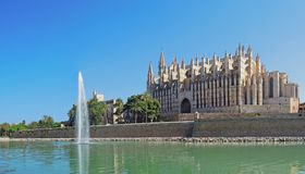 Palma de Mallorca, Spain. The gothic Cathedral of Santa Maria. At summer time Royalty Free Stock Photography
