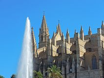 Palma de Mallorca, Spain. The gothic Cathedral of Santa Maria. At summer time Stock Photography