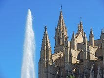 Palma de Mallorca, Spain. The gothic Cathedral of Santa Maria. Summer time Royalty Free Stock Images