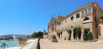 Palma de Mallorca, Spain. The gothic Cathedral of Santa Maria. Summer time Stock Photo