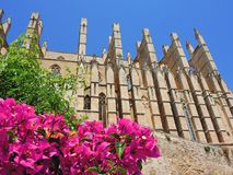 Palma de Mallorca, Spain. The gothic Cathedral of Santa Maria. Summer time Stock Photos