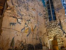 Palma de Mallorca, Spain. The interior of the gothic Cathedral of Santa Maria and Its works of art