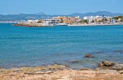 Cala Gamba marina in rocky coastal landscape royalty free stock photos