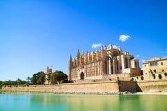Palma de Mallorca, Spain. La Seu - the famous medieval gothic ca Royalty Free Stock Image
