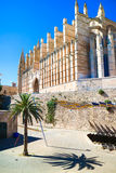 Palma de Mallorca, Spain. La Seu - the famous medieval gothic ca Royalty Free Stock Photography