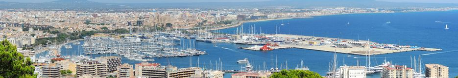 Palma de Mallorca, Spain. Landscape to the city from the Bellver Castle. Summer time Stock Photo