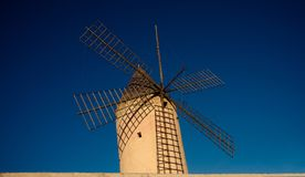 Palma de Mallorca / Spain - Legendary windmill. Legendary windmill. with the blue sky in the background in Majorca island Stock Photos