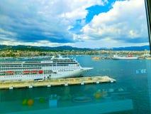 Palma de Mallorca, Spain - September 07, 2015: Royal Caribbean, Allure of the Seas. Palma de Mallorca, Spain - September 07, 2015: The main restaurant at Royal Royalty Free Stock Images