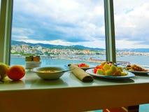 Palma de Mallorca, Spain - September 07, 2015: Royal Caribbean, Allure of the Seas. Palma de Mallorca, Spain - September 07, 2015: The main restaurant at Royal Royalty Free Stock Image