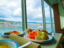 Palma de Mallorca, Spain - September 07, 2015: Royal Caribbean, Allure of the Seas. Palma de Mallorca, Spain - September 07, 2015: The main restaurant at Royal Stock Image