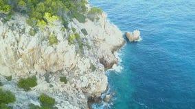 Palma de Mallorca, Spanien, Klippen, Traumfeiertag! stock footage