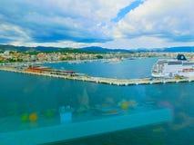 Palma de Mallorca Spanien - September 07, 2015: Kungligt karibiskt, tjusning av haven Arkivbilder