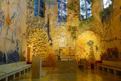 PALMA DE MALLORCA, SPANJE - AUGUSTUS 18 2017: Schitterende mening van binnenland van Kathedraal van Santa Maria van Palma La Seu  Stock Afbeelding