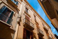 Palma de Mallorca street view. And balkony Stock Photography