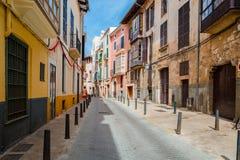 Palma de Mallorca street view. Palma de Mallorca historic street view Stock Image