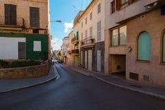 Palma de Mallorca street view. Perspective Royalty Free Stock Photos