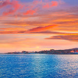 Palma de Mallorca sunset at port in Majorca Royalty Free Stock Image