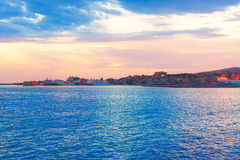 Palma de Mallorca sunset at port in Majorca. Balearic islands of Spain Stock Photos