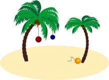 Palma de Navidad ilustração stock